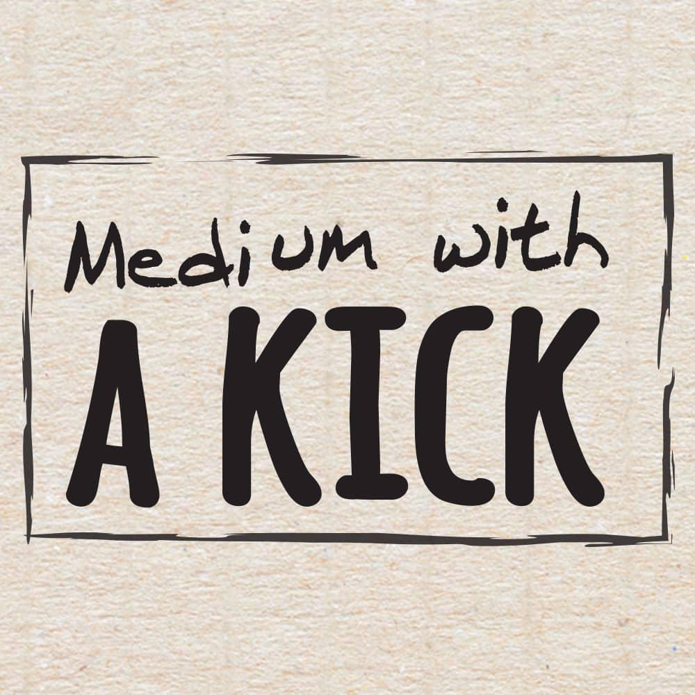 Medium With a Kick stamp