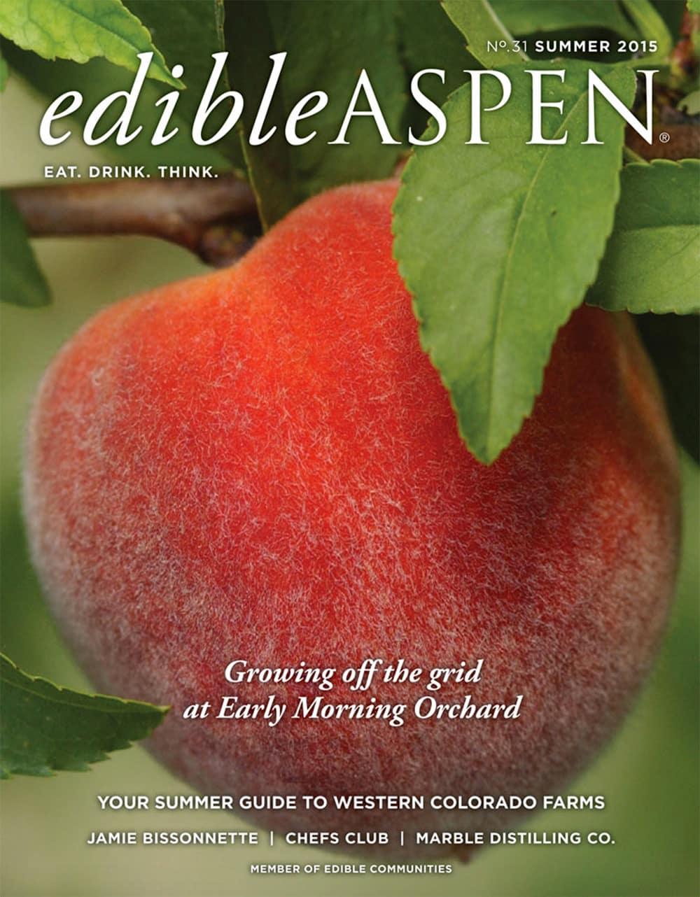 Edible Aspen magazine cover, Summer 2015